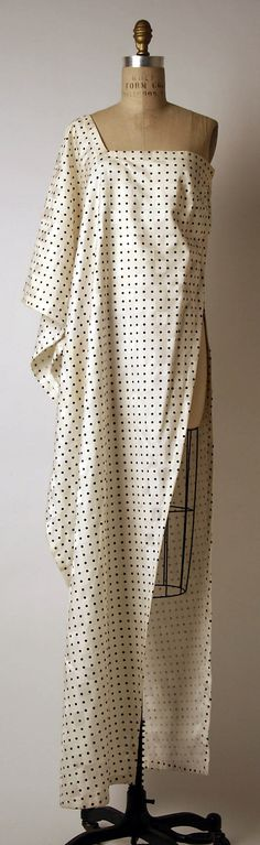 Evening dress Madame Grès (Alix Barton) (French, Paris 1903–1993 Var region) Date: 1982 Culture: French Medium: silk. Front