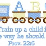 Train Up a Child (5×7 hoops)