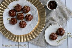 """Vegetarian Sweet and Sour Porcupine """"Meatballs"""" - Happy Food, Healthy Life"""