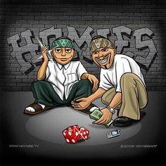 homies shootin dice