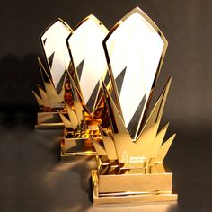 EFX are the UK leading manufacturer and supplier of custom and bespoke gold trophy awards. View our extensive collection of gold trophies on our website now!