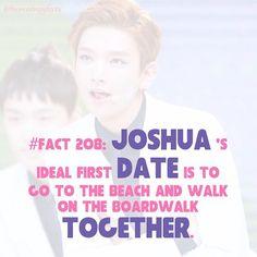 #seventeen #joshua That'd be cute~ Mingyu Wonwoo, Seungkwan, Woozi, Seventeen Facts, Joshua Seventeen, Vernon Hansol, Got7 Members, 22 Years Old, Super Junior