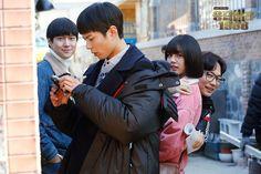 Look into the camera, Taek-ah! Korean Drama Movies, Korean Actors, My Bo, Ryu Joon Yeol, Kdrama, Oh My Ghostess, Park Bogum, Hyeri, Japanese Drama