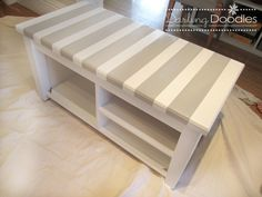 DIY Entryway Bench, I like the taller boots side and another for flips/tennis shoes