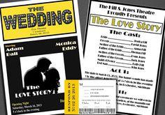 Broadway Theatre Style Wedding Invitation Theatre by BowersInk, $3.50
