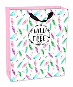 Prezzi e Sconti: #Sacchetto regalo gift bag medium. wild and free New  ad Euro 2.50 in #Legami #Forniture per ufficio