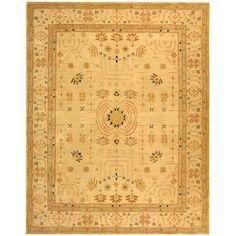 Handmade Treasured Sand Wool Rug (9' x 12') | Overstock.com Shopping - Great Deals on Safavieh 7x9 - 10x14 Rugs