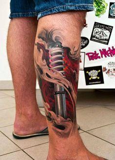 50 impresionantes tatuajes realistas en 3D que te dejarán con la boca abierta