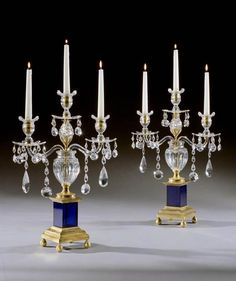 A PAIR OF GEORGE III CANDELABRA BY PARKER AND PERRY - English, circa 1780