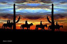 Texas Cowboys Cowgirls Art Men Women Riding by GrayWolfGallery Texas Cowboys, Cowboy And Cowgirl, Cowgirls, Folk Art, Westerns, Ranch, Rustic, House, Painting