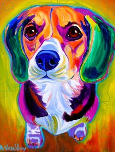 Beagle - Molly by Alicia VanNoy Call - Beagle - Molly Painting - Beagle - Molly Fine Art Prints and Posters for Sale
