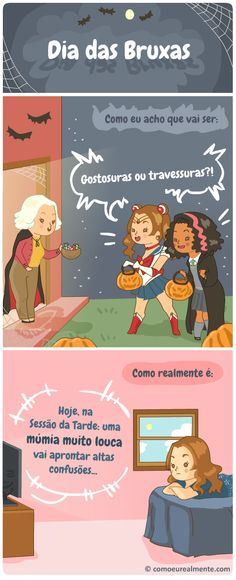 Dia das Bruxas   Como eu realmente...