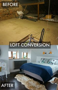 The loft conversion is now complete - check out the before and after photos with a full room tour video.