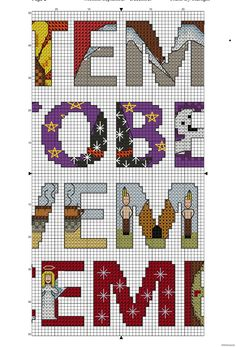 Months September to December - Free Cross Stitch Pattern!