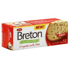 Breton Gluten Free Original Crackers with Flax, 4.76 oz, (Pack of 6)