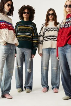 10 Trends From the Fall 2021 Season That Predict Fashion's Future | Vogue 2010s Fashion, Star Fashion, Fashion Show, Fashion Trends, Ballet Fashion, Knitwear Fashion, Fair Isle Knitting, Rag And Bone, Jeans