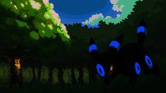 Umbreon in Ilex Forest Forest Wallpaper, Hd Wallpaper, Wallpapers, Illustration Art, Display, Image, Wallpaper In Hd, Floor Space, Wallpaper Images Hd