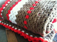Granny Square Sock Monkey Afghan by GalleryGuerra on Etsy, $325.00
