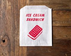 24 ice cream sandwich candy, treat, or gift bags. $3.50, via Etsy.
