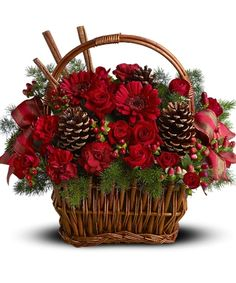 Sugar & Spice Holiday Basket - Griffins Floral Deisgn - Columbus Christmas Flowers - Columbus Holiday Flowers - Columbus Poinsettia Plants - Columbus Christmas Centerpieces - Columbus Florist - Same Day Flower Delivery Columbus Ohio