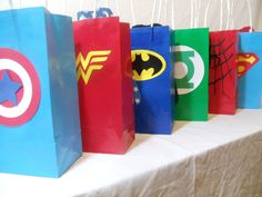 Super hero Goody Bags! Make them at home & bring them to the park for your kid's birthday friends!