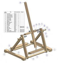 h frame folding tabletop easel plan parts list - Tabletop Easel