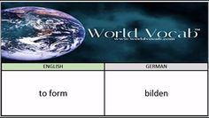 to form - bilden German Vocabulary Builder Word Of The Day #246 ! Full audio practice at World Vocab™! https://video.buffer.com/v/587522a590ae574a45361491