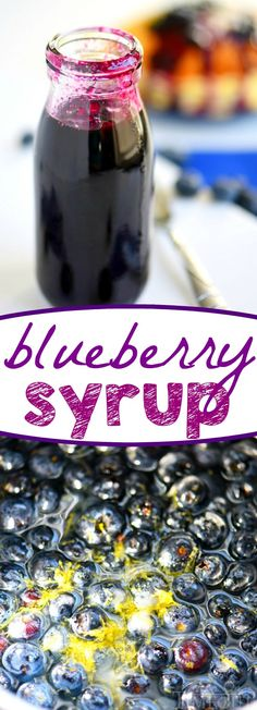How to make and can this blueberry syrup. This easy Blueberry Syrup is the perfect topping for your pancakes or waffles! The perfect addition to breakfast or brunch! Jam Recipes, Canning Recipes, Jelly Recipes, Recipies, Chutney, Salsa Dulce, Homemade Syrup, Jam And Jelly, Blueberry Recipes