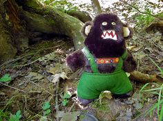 Bigfoot Hates His Lederhosen lean version by slugwork on Etsy, $48.00