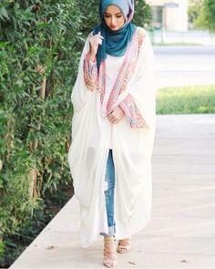 abaya jacket hijab style