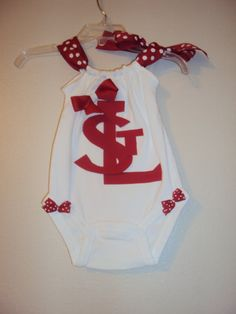 Have a St. Louis cardinals fan?! This onsie will look great on game day!