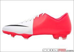 Nike Mercurial Victory III Firm Ground Soccer Cleat - White with Solar Red and Black...$58.49