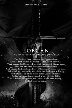 Empire of Storms - Lorcan [Spoilers]