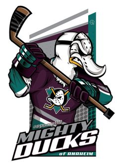 Need a Mighty Ducks of Anaheim cartoon? #EPoole88 (Eric Poole) has ya covered!