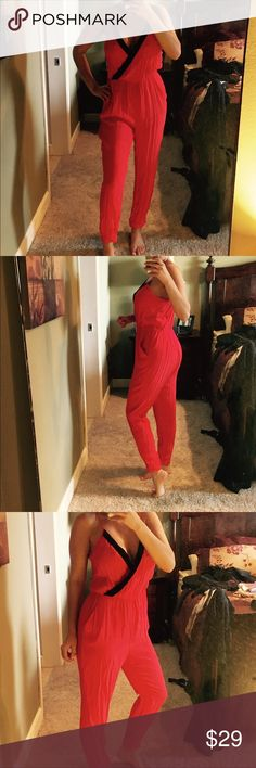 Arden b coral jumpsuit lg Excellent condition!  Smoke free home. Worn once Arden B Other