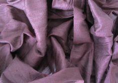 Chocolate brown wedding bridal shantung raw silk fabric number 747  - per yard or meter