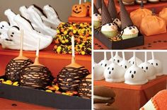 Aunt Deb we can make the cake pop ghost, does Kristen still have the thing I got her to make them??-Halloween Party Food halloween