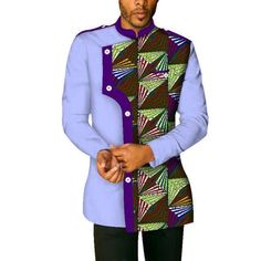african men's custom wrist sleeve with lining coat - Dukaiko African Wear Styles For Men, African Shirts For Men, African Attire For Men, African Tops, African Clothing For Men, African Style, African Beauty, Couples African Outfits, African Dresses Men