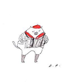 Accordion Cat by jamieshelman
