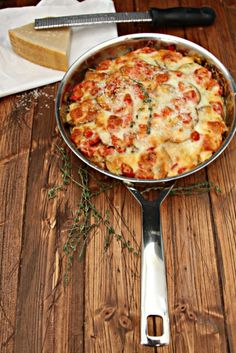 Tomato Potato and Leek Gratin. It's a steamy and side dish that goes with just about any meal!