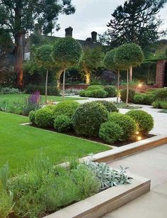 Front garden design Modern garden Contemporary garden Small garden design Beautiful gardens Contemporary garden design - Present day front yard plans are inclining more into the moderate and meag - Front Gardens, Small Gardens, Outdoor Gardens, Formal Gardens, Modern Gardens, Garden Modern, Water Gardens, Contemporary Garden Design, Small Garden Design