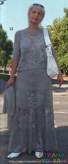 Филейный костюм - Комплект.Костюм - Вязание крючком - Рукоделие