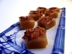 Bacon Caramels....I love doing a saucy version as a topping for cheesecake. Planning on making some bacon caramel scones very soon!!