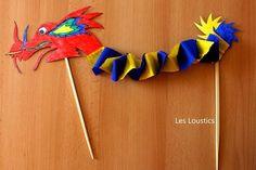 Dragon chinois Plus Chinese New Year Crafts, Chinese New Year 2020, Happy Chinese New Year, New Year's Crafts, Diy And Crafts, Arts And Crafts, Chinese New Year Decorations, New Years Decorations, Diy For Kids