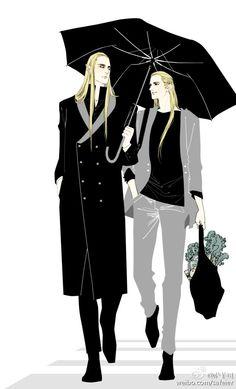 Modern Thranduil and Legolas