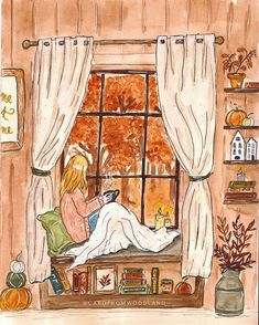 Color Symbolism, Autumn Cozy, Autumn Fall, Autumn Illustration, I Love Winter, Aesthetic Drawing, Illustrations, Happy Fall, Autumn Leaves