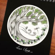 Lisa's #tree #Zentangle #Mandala#Lisa#Taipei #Taiwan#Zentangle#CZT#ZIA#doodle#painting#drawing#feather#peacock#animal#tree#rabbit#flower#artwork#zentangleart#dreamcatcher#gallery#Peacock#flowers