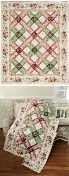 ROSE LATTICE QUILT KIT . . east pattern if you break down the block