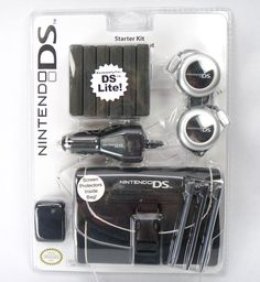 NEW Nintendo DS Lite Starter Kit Car Charger Travel Bag Cases Stylus Headphones #Bensussen