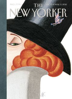 "The New Yorker - Monday, February 23, 2015 - Issue # 4581 - Vol. 91 - N° 2 - « 90th Anniversary Issue » - Cover ""Nine for Ninety - Eight"" by Lorenzo Mattotti"